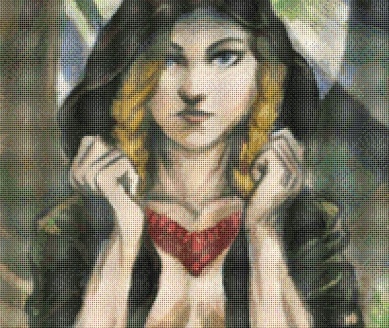 Wood Maiden Cross Stitch Chart