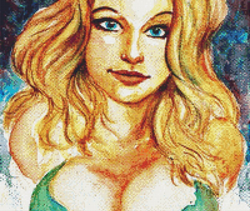 Cleavage Lady Cross Stitch Chart