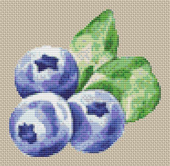 Blueberry Cross Stitch Chart