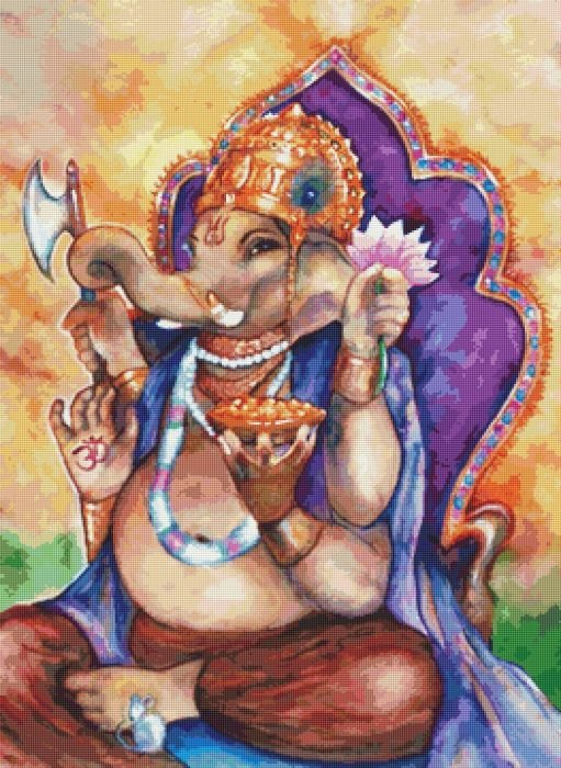 Ganesh Cross Stitch Chart