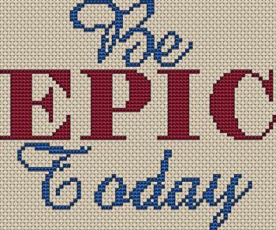 Epic Cross Stitch Chart