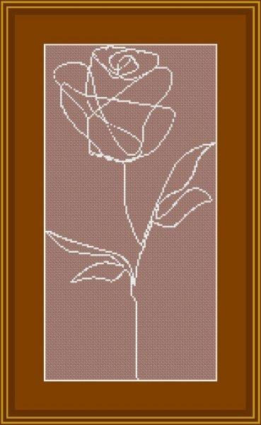 Single Line Rose