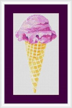 Ice Cream Cross Stitch Chart